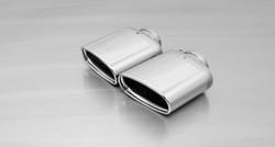 Remus Rear Silencer Left/Right with 2 tail pipes 142x72 mm angled/angled, chromed - Leon 5F 2.0 TSI Cupra 2014-