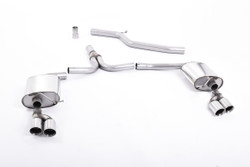 Milltek Cat-Back Exhaust for Audi A4 (B8) 2.0 TDI B8 140PS/177PS