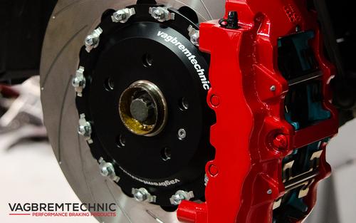 Vagbremtechnic Front Brake Kit - 8 Piston Brembo Caliper - 362x32mm 2 Piece Discs - RS3 8P