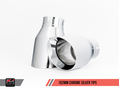 102mm Chrome Silver Tailpipes