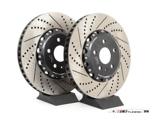 ECS Tuning - 340x30mm Front Cross-Drilled & Slotted 2-Piece Brake Discs