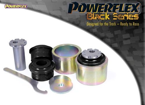 Powerflex Black Front Lower Radius Arm to Chassis Bush Caster Adjustable - A4 Quattro (2008 - 2016) - PFF3-802GBLK