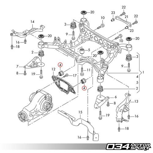 034motorsport rear differential carrier mount insert kit  ‹ ›