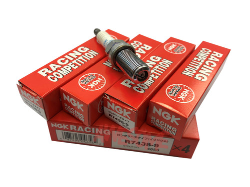 NGK Competition R7438-9 Angled Ground Strap Spark Plug Set - 2.0TFSI EA888 Gen3 (IS38)