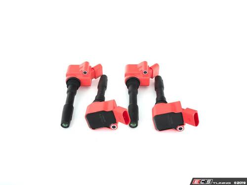 OEM 'B9 S4' Red Ignition Coil Pack Set for 1.8T / 2.0T EA888 Gen3