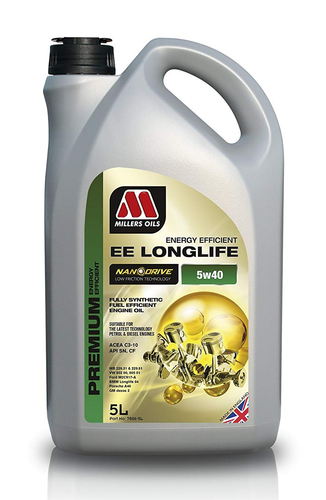 Millers Nanodrive 'EE' 5w40 Longlife Engine Oil - 5 Litre