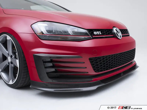 ECS Tuning Carbon Fibre Front Bumper Grille Flare Set - Mk7 GTI