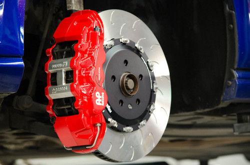 Vagbremtechnic Front Brake Kit - 6 Piston AP Racing Caliper - 390x34mm 2-pc Discs - Ferodo DS2500