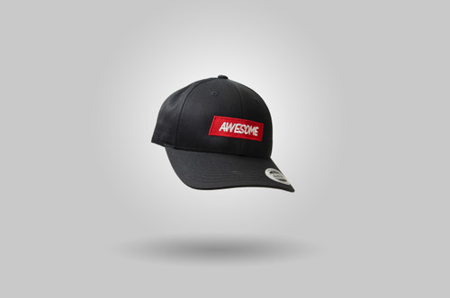 Awesome 'Curve' Baseball Cap - Black / Red