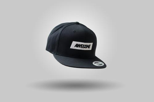 Awesome 'Snapback' Baseball Cap - Black / White