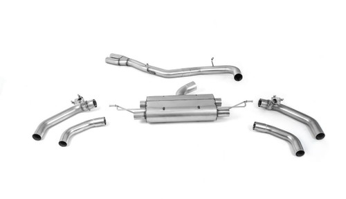 Milltek Particulate Filter-back  80mm System, Fits with OE Tailpipes - RSQ3