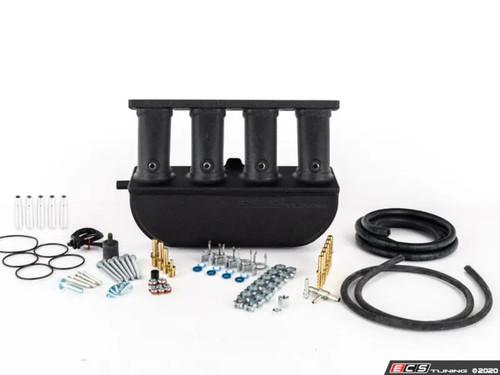 ECS Tuning Aluminum Intake Manifold With Fitting Kit - Wrinkle Black Finish - 2.0TFSI