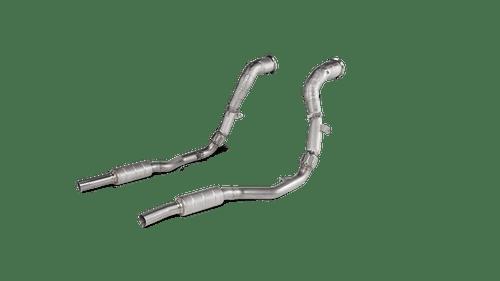 Akrapovic Downpipe / Link pipe set (SS) - RS Q8 (4M)