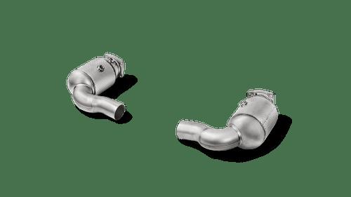 Akrapovic Link Pipe Set w Cat (SS) - 911 Turbo / Turbo S (991.2)