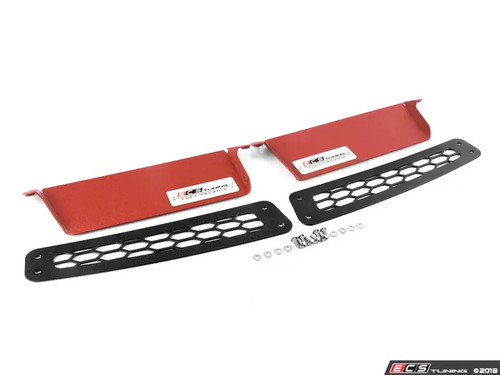 ECS Tuning Air Inlet Scoop Kit - Left & Right - Red - Golf 7