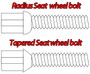 M12 Black Longer Wheel Bolts For Wheel Spacers (Tapered)
