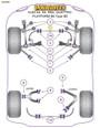 Powerflex Black Front Lower Shock Mount - S4 (1995-2001) - PFF3-201BLK