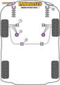 Powerflex Black Front Anti Roll Bar Bush 18mm - Citigo (2011 -) - PFF85-603-18BLK