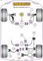 Powerflex Rear Diff Rear Mounting Bush  - Superb (2015 - ) - PFR85-525