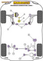 Powerflex Black Rear Lower Spring Mount Inner - Scirocco MK3 (2008 - 2017)  - PFR85-510BLK