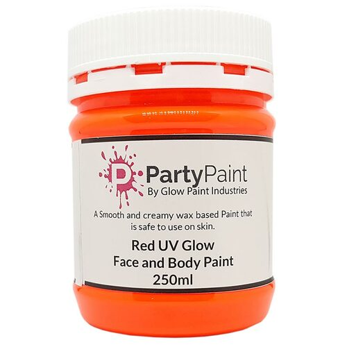 Orange/Yellow UV Face and Body Paint