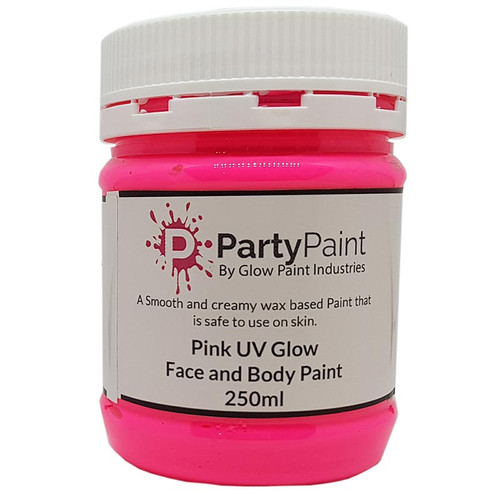 Pink UV Glow Face and Body Paint
