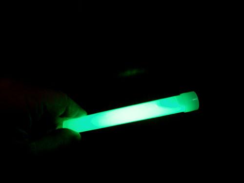 A Green glow stick.
