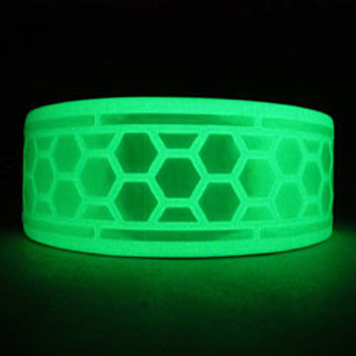 Glow in the dark and reflective tape in dark area