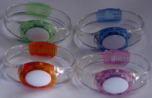 Sound activated LED flashing wrist bands