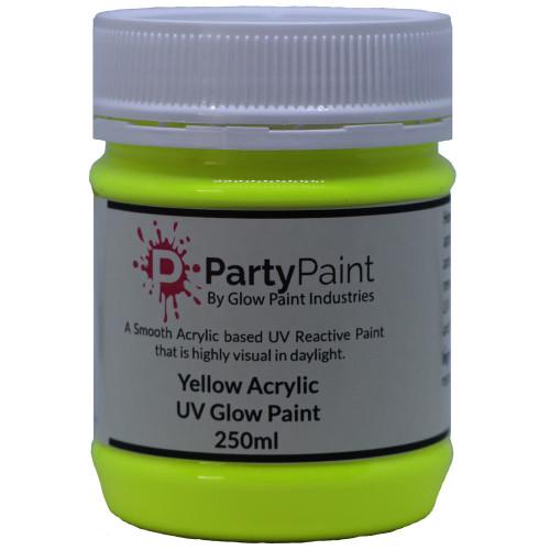 Yellow Acrylic UV Glow Paint