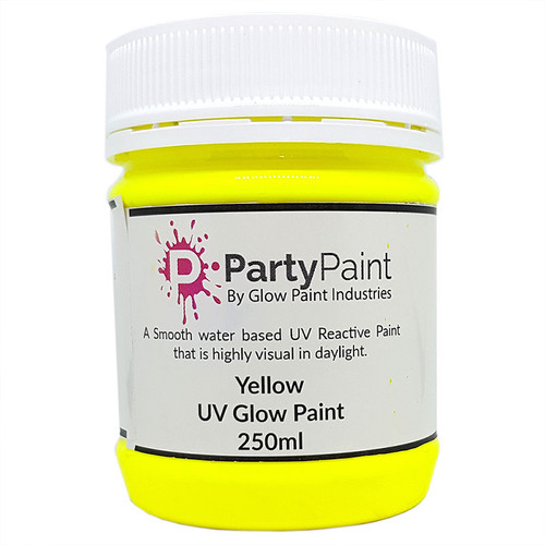 Super Sun Yellow UV Glow Paint