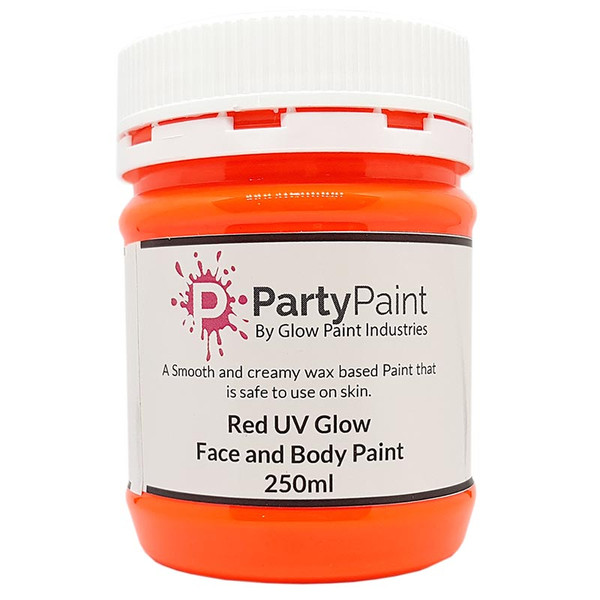 Orange/Yellow UV Face and Body Paint