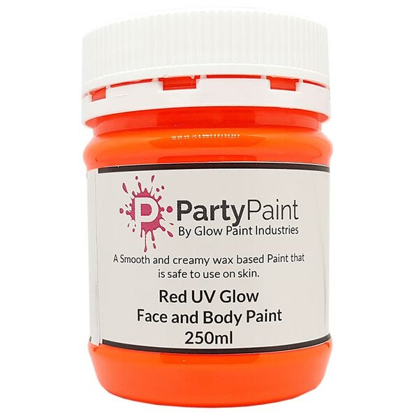 Orange/Red UV Glow Face and Body Paint
