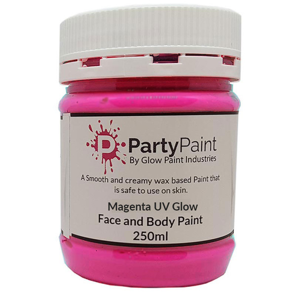 Magenta UV Glow Face and Body Paint