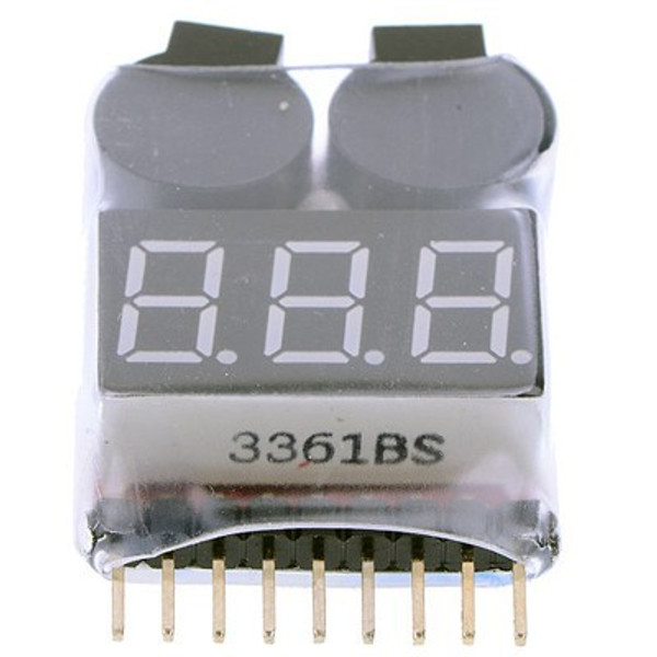 Low voltage battery alarm and visual display
