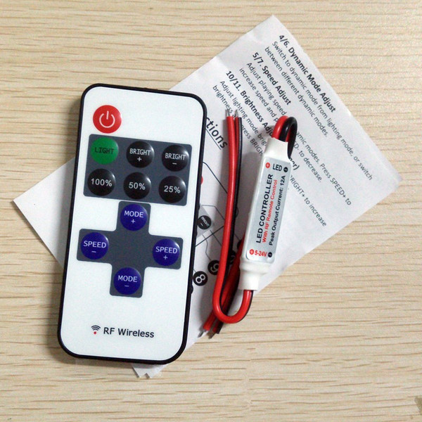 Wireless Remote control for light strip contents