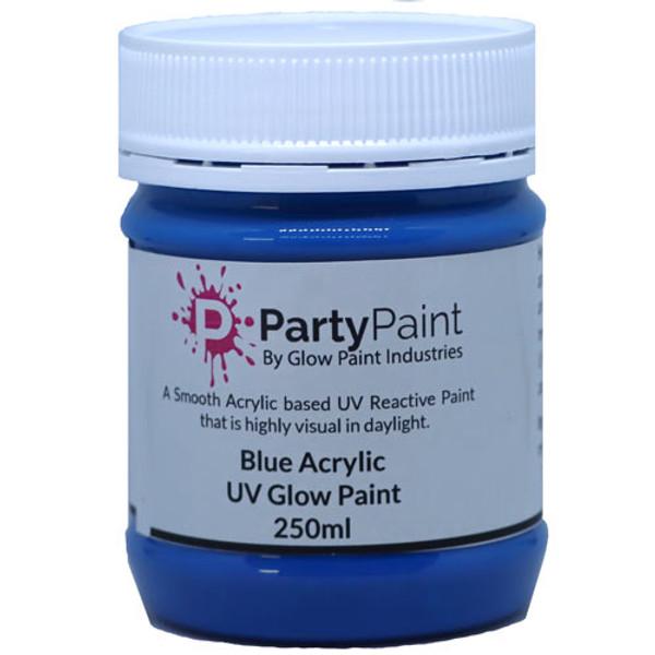Blue Acrylic UV Glow Paint