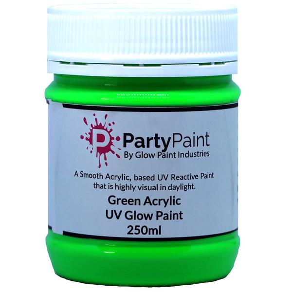 Green Acrylic UV Glow Paint