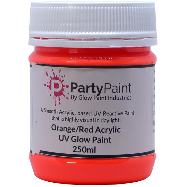Orange Red Acrylic UV Glow Paint