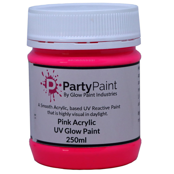 Pink UV Glow Paint with Acrylic for better Protection