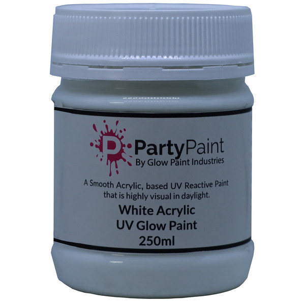 UV Glow Paint White with the protection of Acrylic