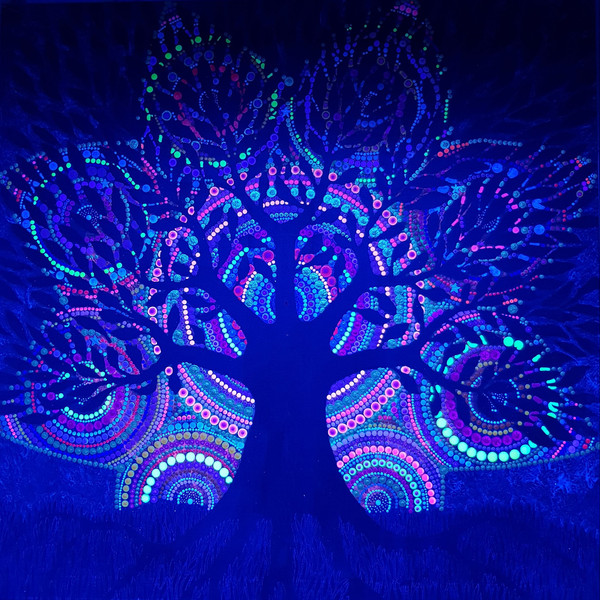 UV Glow Paint with Acrylic
