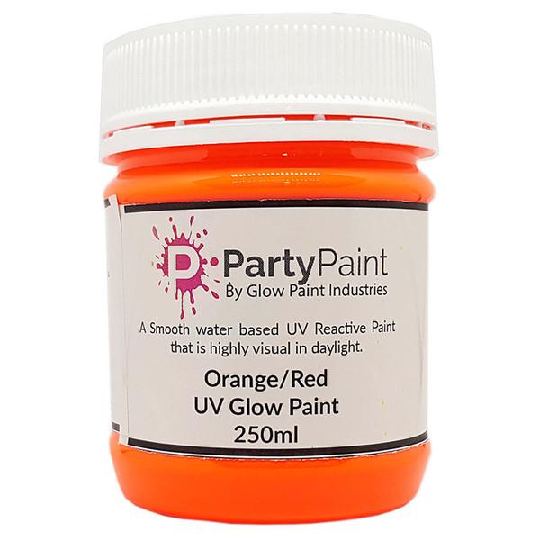 Awesome Orange-Red UV Glow Paint