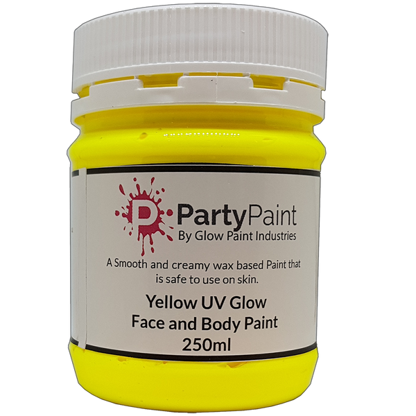 Yellow UV Glow Face and Body paint
