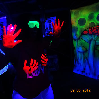 Having fun at a Fluro Party