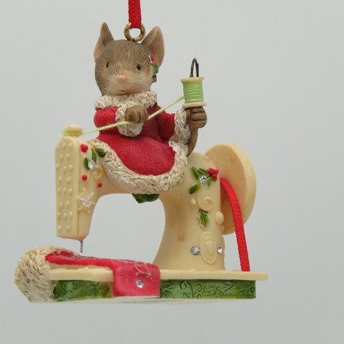 Sewing Machine Mouse Christmas Stocking Ornament Heart of Christmas 4052791 front