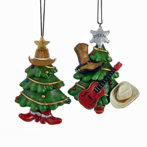 Kurt Adler Santa Shadow Box Ornaments C8785