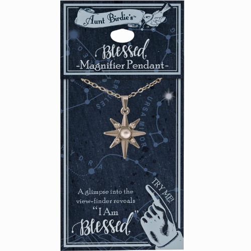 AngelStar I Am Blessed North Star Medallion Pendant Necklace 13882