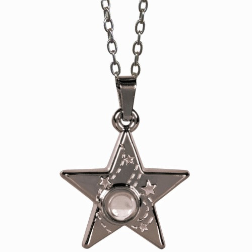 AngelStar I Am Blessed Starry Night Medallion Pendant Necklace 13884