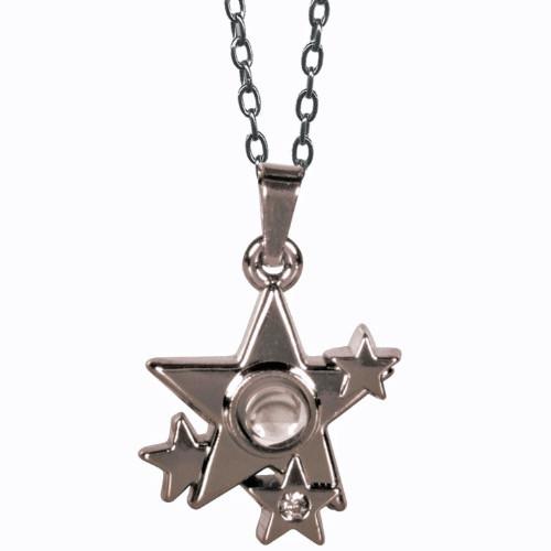 AngelStar I Am Blessed Star Cluster Medallion Pendant Necklace 13885